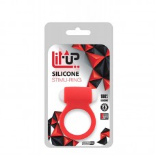 Lit Up Silicone Stimu Ring 2 Red