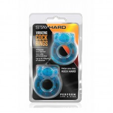 Stay Hard – Vibrating Cock Rings 2 Pack – Blue