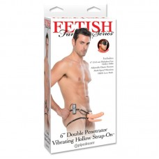 Fetish Fantasy Series Double Penetrator Vibrating Holow Strap-on 6 Black