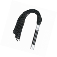 Long Flogger With Metal Grip