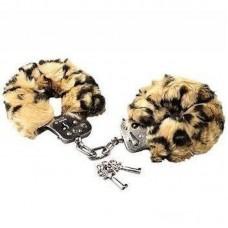 Μεταλλικές Χειροπέδες με Λεοπάρ Γούνα Furry Handcuffs - Leopard