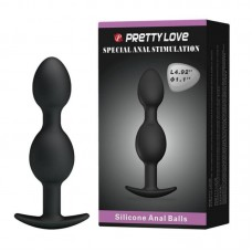 Pretty Love Heavy Balls Silicone Butt Plug